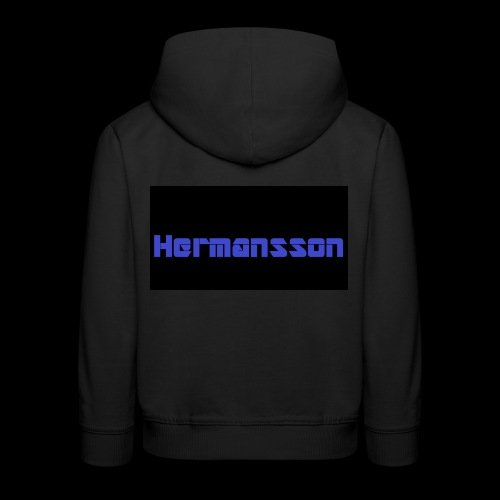Hermansson Blå/Svart - Premium-Luvtröja barn