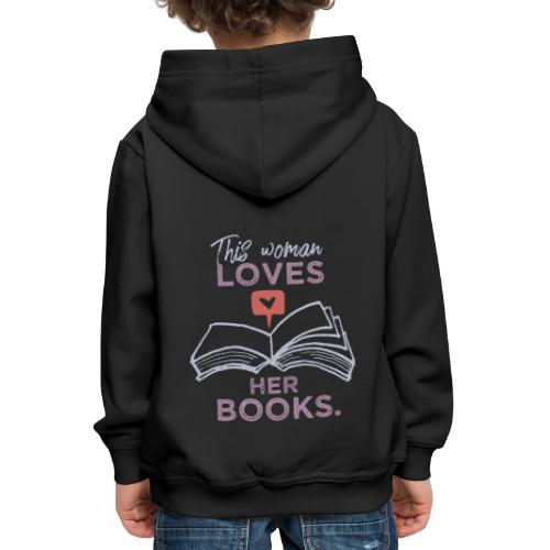 0218 Frau   Bücher   Liebe   Leserin   Bloggerin - Kids' Premium Hoodie