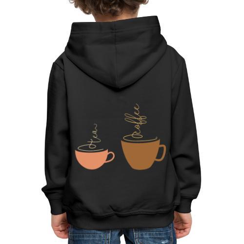 0254 Tea or coffee? That is the question! - Kids' Premium Hoodie