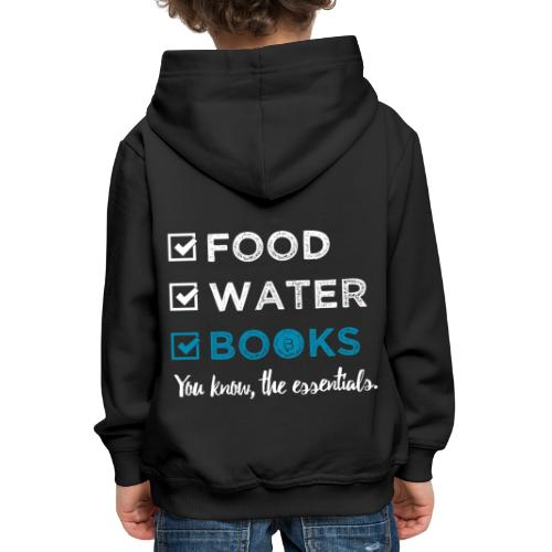 0262 Books | Reading | The important and essential - Kids' Premium Hoodie