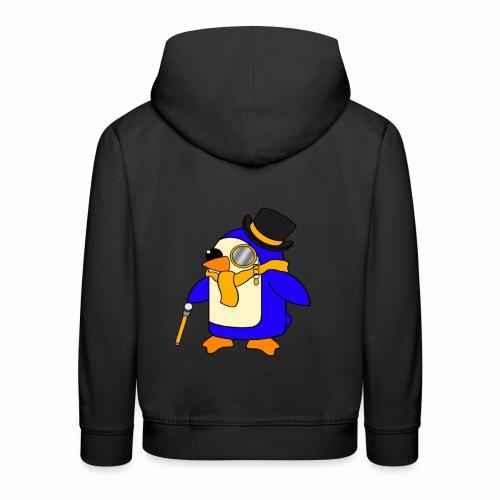 Cute Posh Sunny Yellow Penguin - Kids' Premium Hoodie