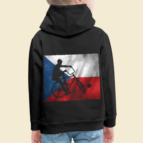 Radball   Flagge Tschechien - Kinder Premium Hoodie