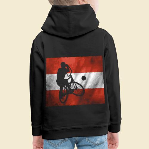 Radball   Flagge Österreich - Kinder Premium Hoodie