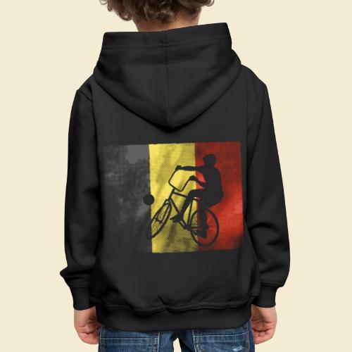 Radball | Flagge Belgien - Kinder Premium Hoodie