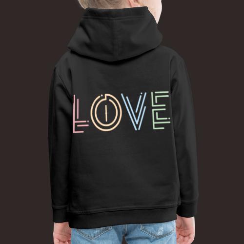 Liebe | Schriftzug kreativ bunt - Kinder Premium Hoodie