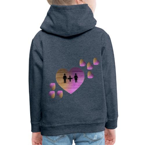 couple amoureux - Pull à capuche Premium Enfant