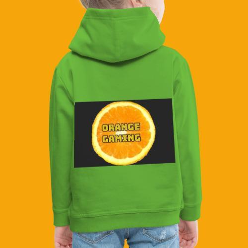 Orange_Logo_Black - Kids' Premium Hoodie