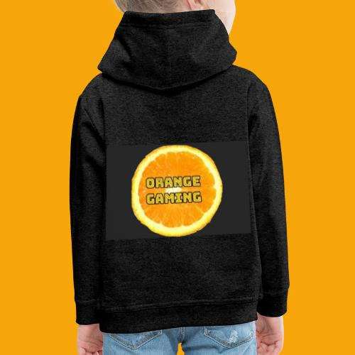 Orange_Logo_Black - Kids' Premium Hoodie