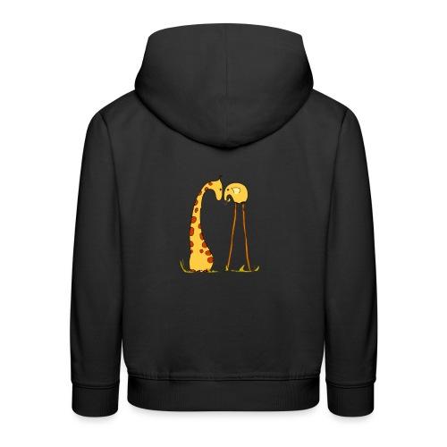 Maglietta San Valentino Tenera | con Animali - Felpa con cappuccio Premium per bambini