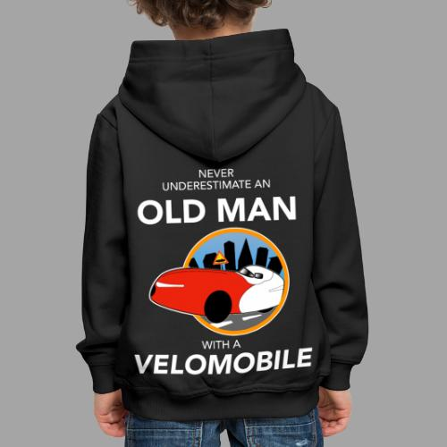 Never underestimate an old man with a velomobile - Lasten premium huppari