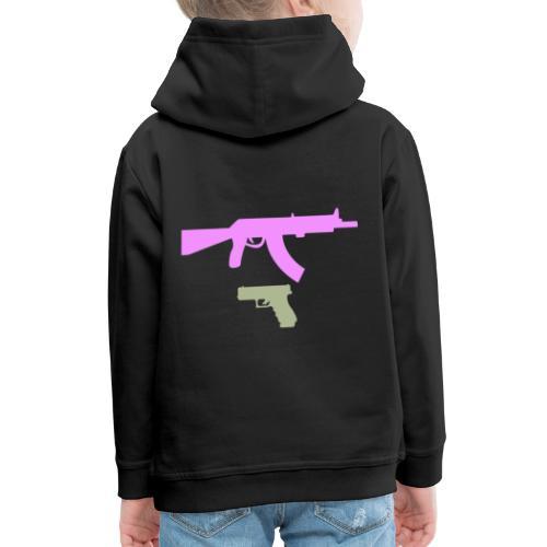 PINK GUN - Bluza dziecięca z kapturem Premium
