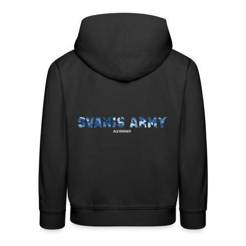 SVANIS ARMY (ALEXSVANIS VIT) - Premium-Luvtröja barn