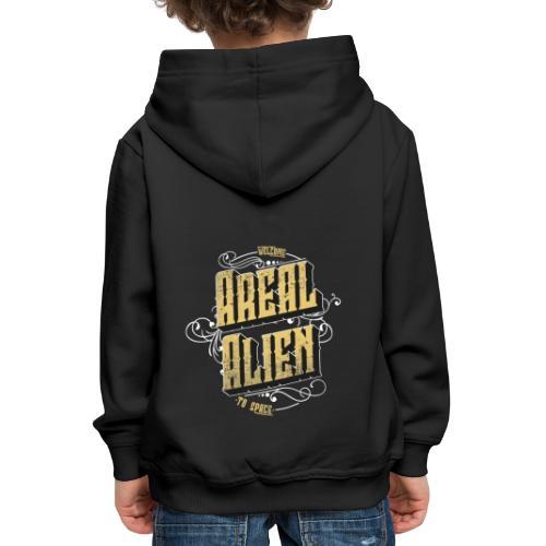 Areal Alien Vintage logo - Premium Barne-hettegenser