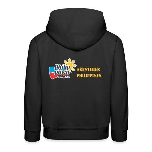 Philippinen-Blog Logo deutsch schwarz/orange - Kinder Premium Hoodie