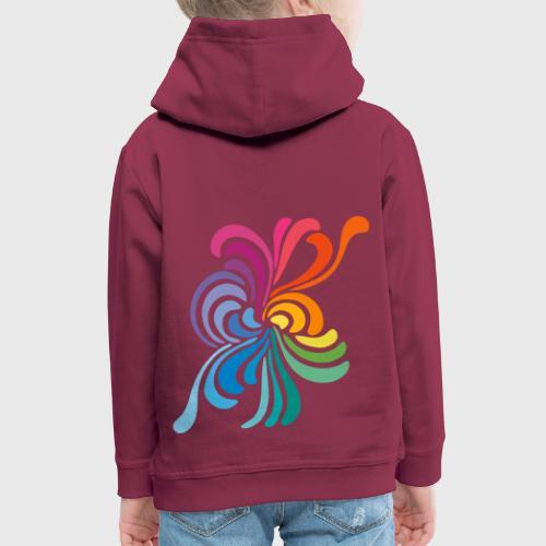 Fleurs multicolore - Pull à capuche Premium Enfant