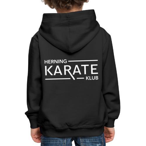 HKK logo Classic Hvid - Premium hættetrøje til børn