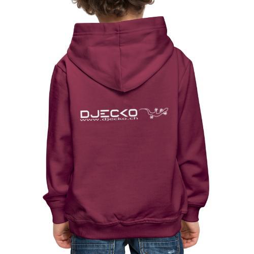 Djecko blanc - Pull à capuche Premium Enfant
