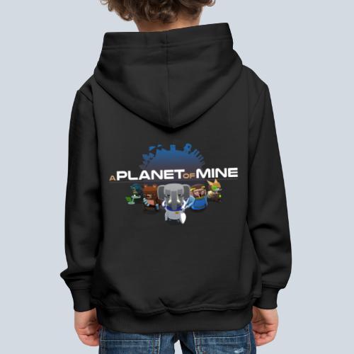 logo planetofmine dark HD - Pull à capuche Premium Enfant
