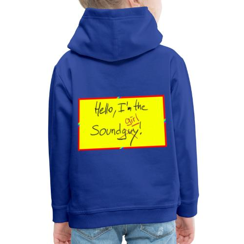hello, I am the sound girl - yellow sign - Kids' Premium Hoodie