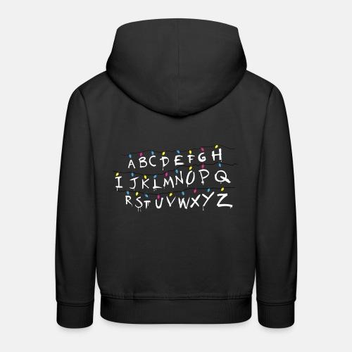 Stranger Things Alphabet - Kids' Premium Hoodie