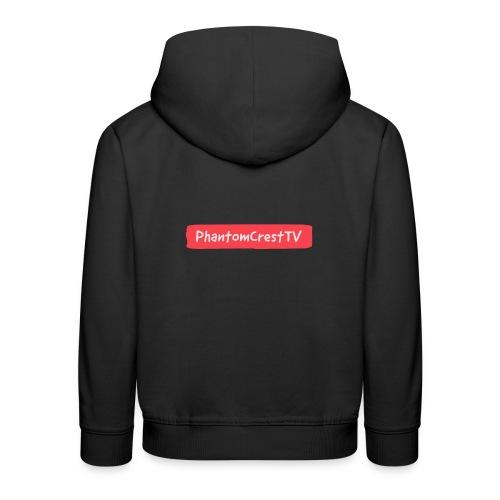 PhantomCresTV Brush Style Logo - Kids' Premium Hoodie
