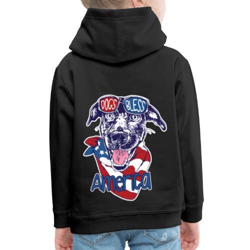 Hund und Hunde segnen Amerika Illustration - Kinder Premium Hoodie