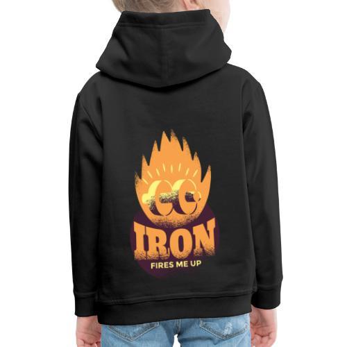 Eisen Feuer feuert mich an Bodybuilding Fitness - Kinder Premium Hoodie