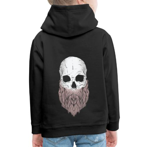 Cartoon bärtiger Schädel Design - Kinder Premium Hoodie