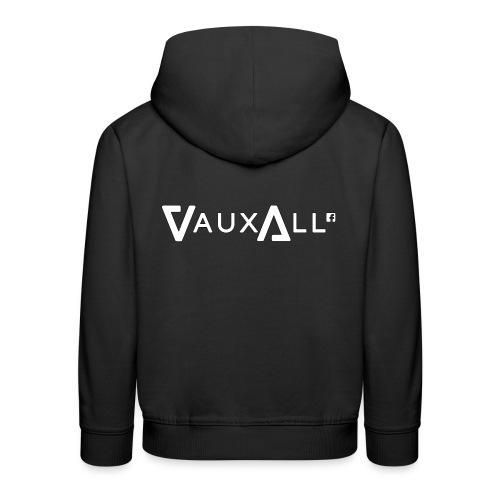 VauxAll Logo | White | Original - Kids' Premium Hoodie