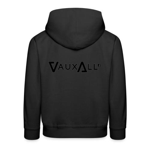 VauxAll Logo | Black | Original - Kids' Premium Hoodie