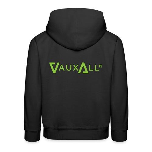 VauxAll Logo | Green | Original - Kids' Premium Hoodie