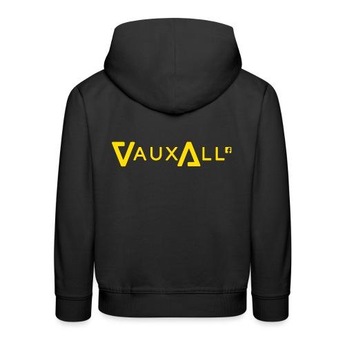 VauxAll Logo | Yellow | Original - Kids' Premium Hoodie