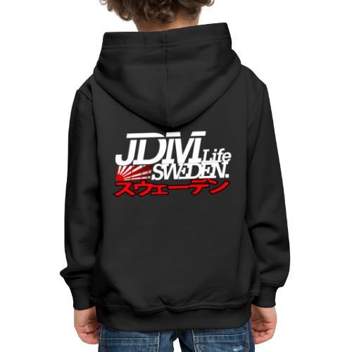 JDM Life Sweden vit - Premium-Luvtröja barn