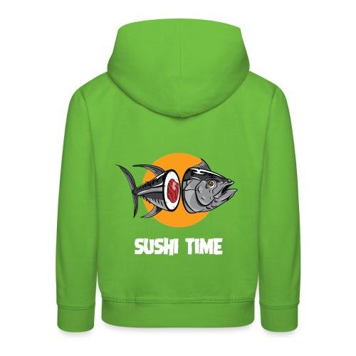 SUSHI TIME-tonno-b - Felpa con cappuccio Premium per bambini