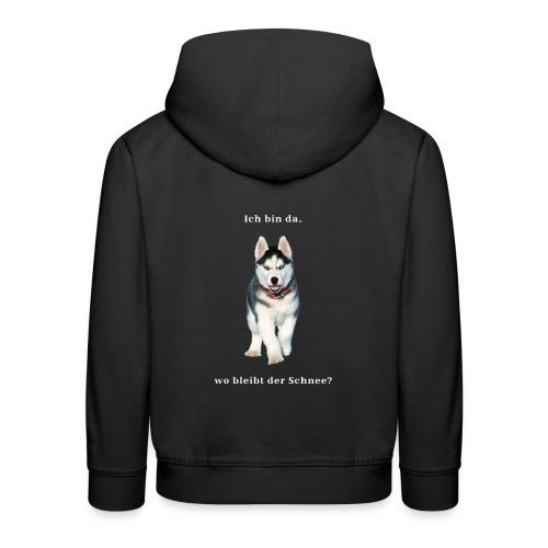 Husky Welpen mit bezaubernden Augen - Kinder Premium Hoodie