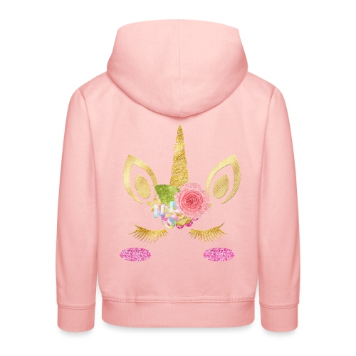 unicorn face - Kinder Premium Hoodie