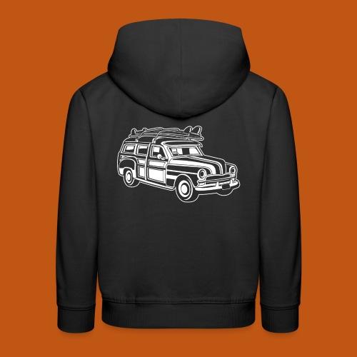 Chevy Cadilac Woodie / Oldtimer Kombi 01_weiß - Kinder Premium Hoodie