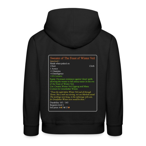WoW Inspired Sweater of The Feast of Winter Veil - Kids' Premium Hoodie