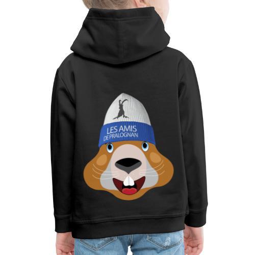 tete marmotte bonnet - Pull à capuche Premium Enfant