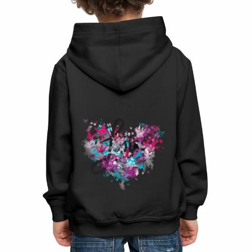 Love with Heart - Kids' Premium Hoodie