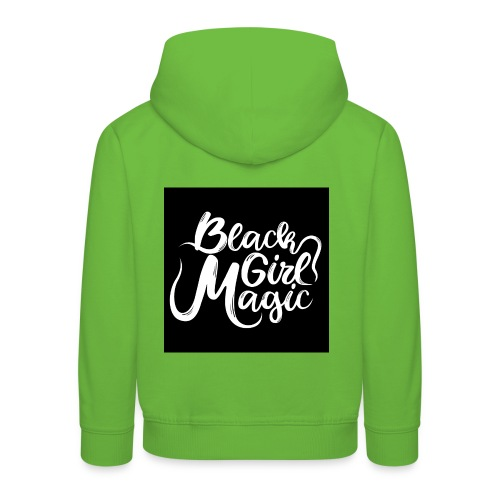 Black Girl Magic 1 White Text - Kids' Premium Hoodie