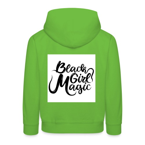 Black Girl Magic 1 Black Text - Kids' Premium Hoodie