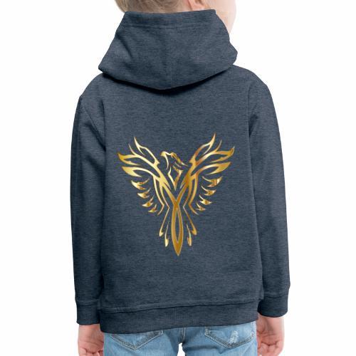 Złoty fenix - Bluza dziecięca z kapturem Premium