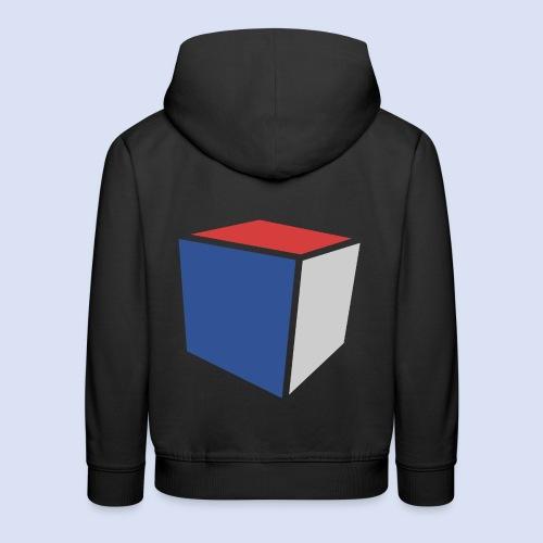 Cube Minimaliste - Pull à capuche Premium Enfant