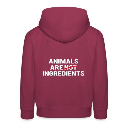 Animals Are Ingredients - Kids' Premium Hoodie