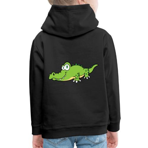Krokodil - Kinderen trui Premium met capuchon