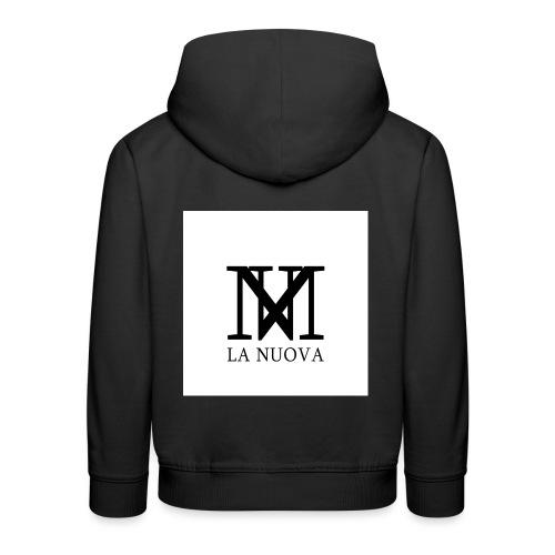 'LA NUOVA' White Background - Kids' Premium Hoodie