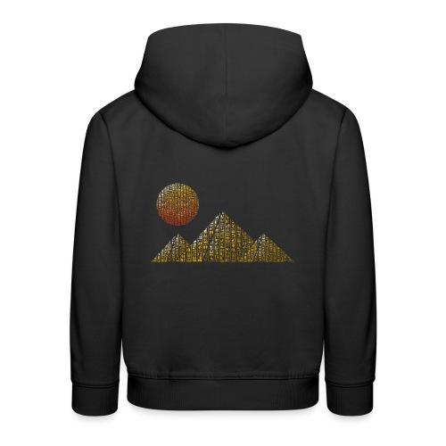 Pyramides hieroglyphic - Pull à capuche Premium Enfant