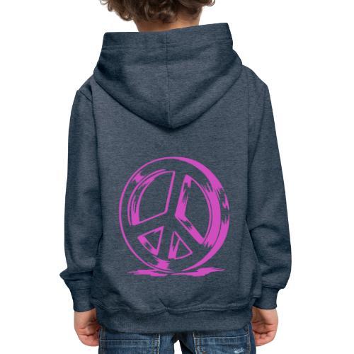 Peace and Love - Pull à capuche Premium Enfant