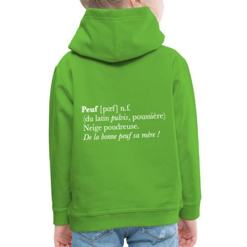 Peuf definition - white - Pull à capuche Premium Enfant